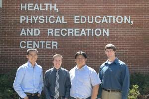 From left to right: Drs. KoFan Lee, Paul Loprinzi, Yang-Chieh Fu, Jeremy Loenneke